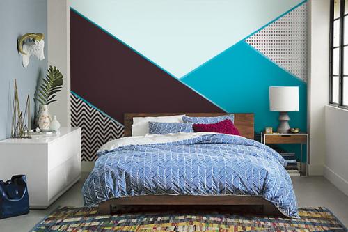 papier peint chambre oscar bleu