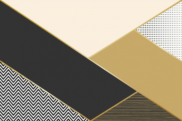 papier peint géométrique or oscar