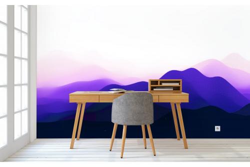 Papier peint intissé Montagnes abstraites