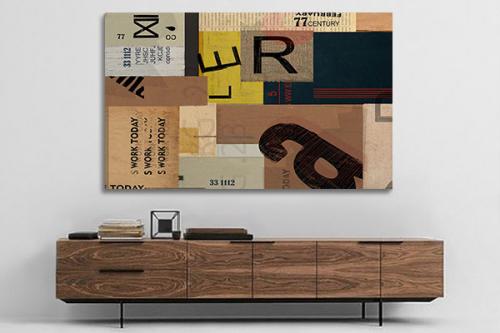 Tableau art moderne Boite postale