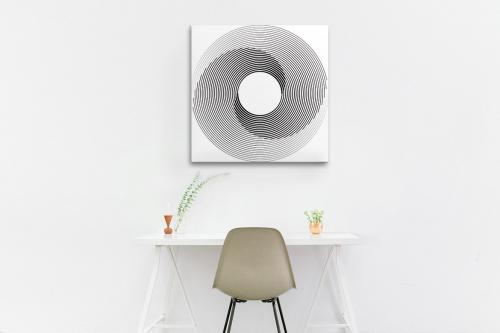 Tableau noir et blanc Tourbillon