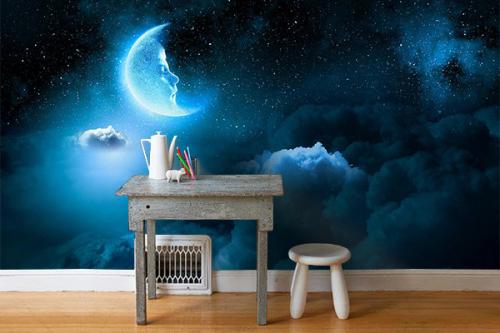 Papier peint pour chambre Croissant de lune