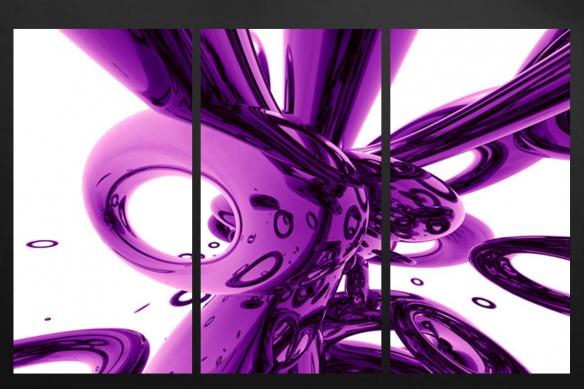 triptyque design violet