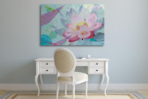 tableau fleur douce floralité izoa
