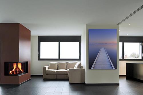 Tableau en toile Tout droit vers l'Horizon