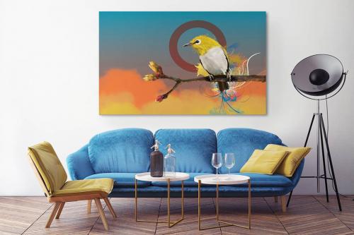 Tableau oiseau Quiet Time