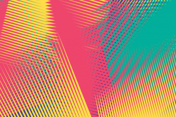 papier peint moderne coloré graphik
