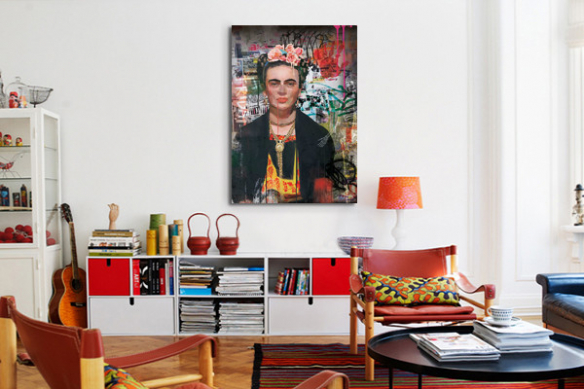 tableau portrait frida kahlo izoa