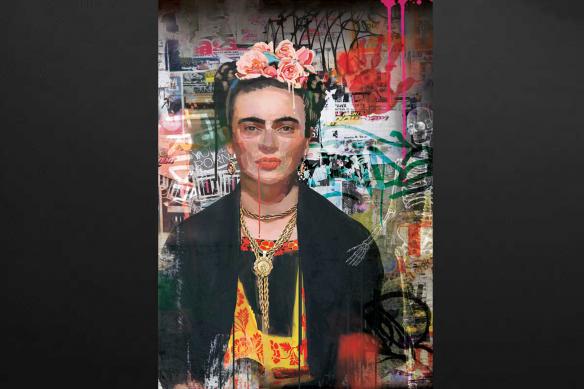 tableau femme célèbre Frida Kahlo