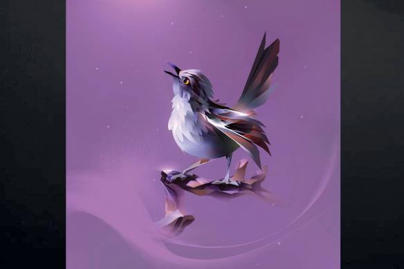 tableau violet oiseau graphique