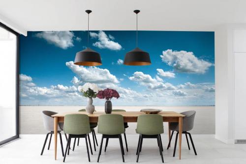 papier-peint-salle-a-manger-nuage-cumulus
