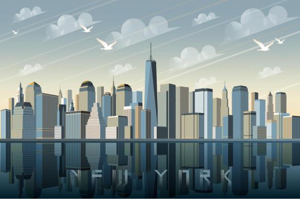 papier peint new york vintage
