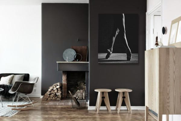 tableau danseuse classique pointes d co noir et blanc. Black Bedroom Furniture Sets. Home Design Ideas