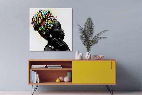 Tableau africain femme Africaine