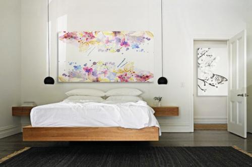 décoration chambre tableau fleur freesia