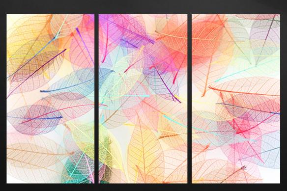 toile triptyque folie colorée