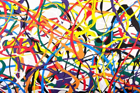 papier peint moderne multi couleurs coulures