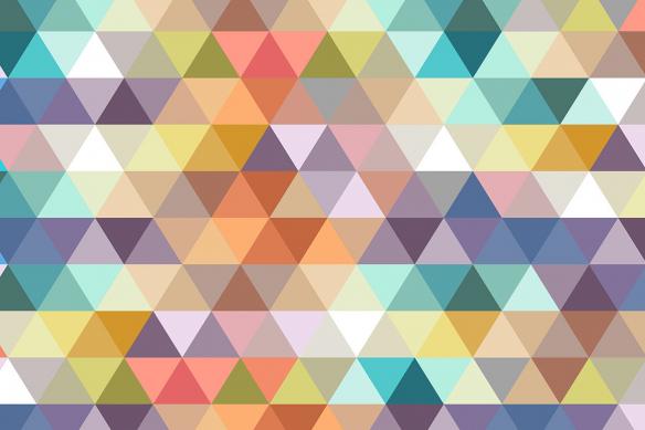 papier peint tendance triangles pastels