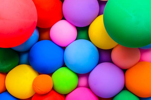 papier peint coloré balloon