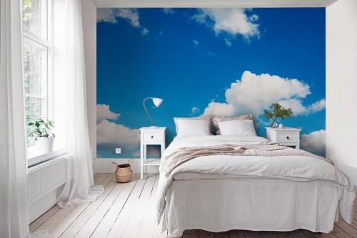 Papier peint nuage et ciel bleu