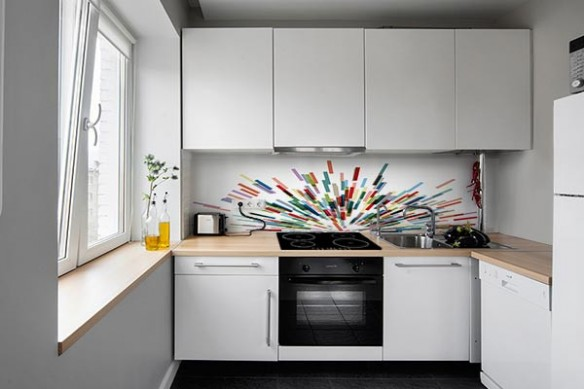 Crédence murale cuisine autocollant Expansion