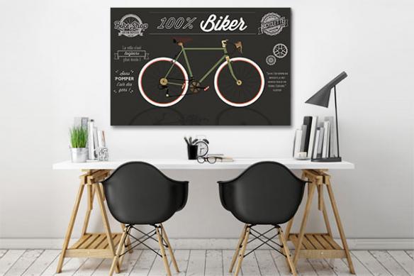 Toile murale vintage bicyclette rétro