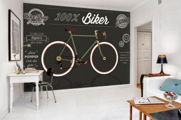 papier-peint-haut-de-gamme-bicyclette retro
