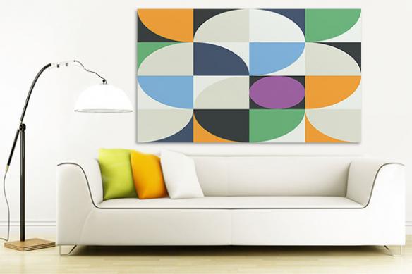 Tableau forme géométrique vintage