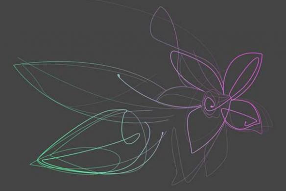 Tableau Fleur design Vanille