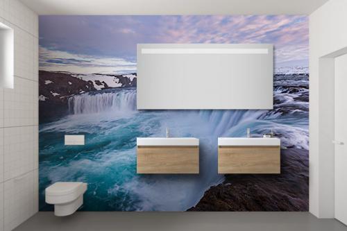 Papier peint salle de bain Haut débit