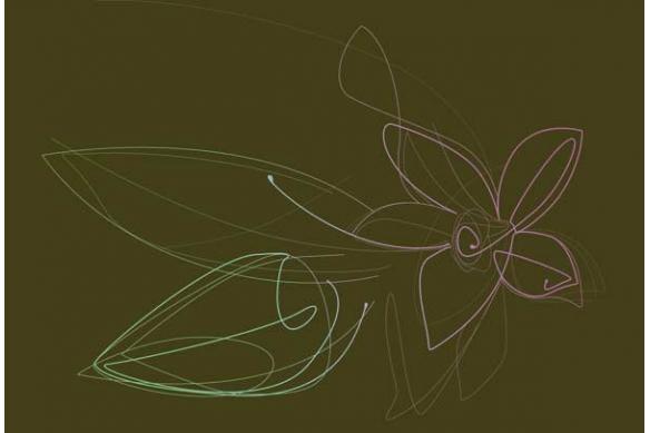 Tableau Fleur deco Vanille kaki