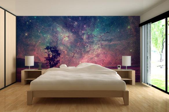 Tapisserie chambre Ciel d'été