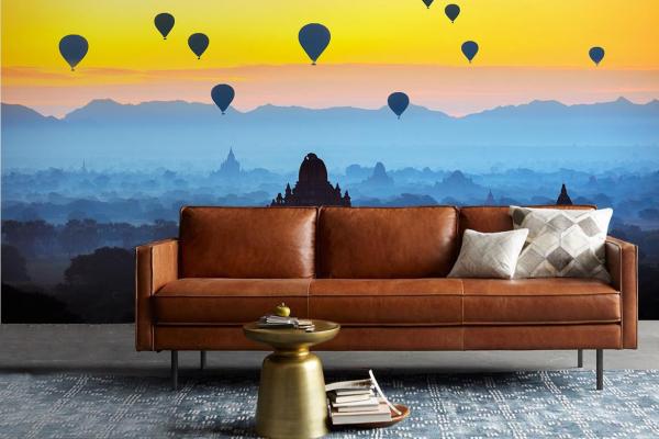 poster xxl mural montgolfi res myanmar. Black Bedroom Furniture Sets. Home Design Ideas