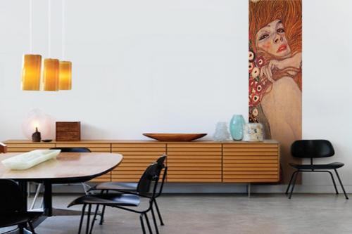 Frise murale art déco Klimt