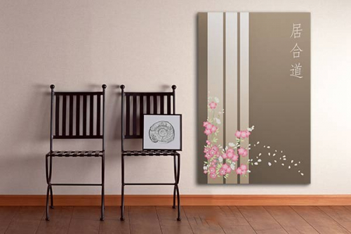 Tableau déco fleur design Estampe