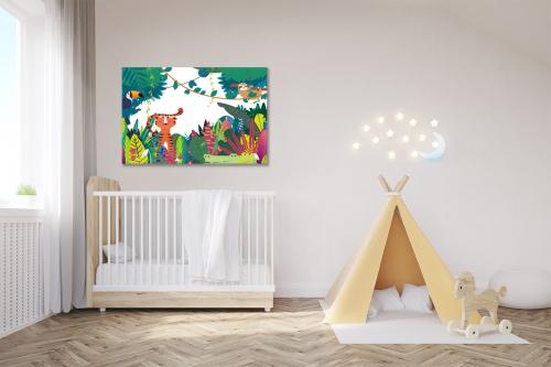 tableau pour chambre enfant monde de la jungle