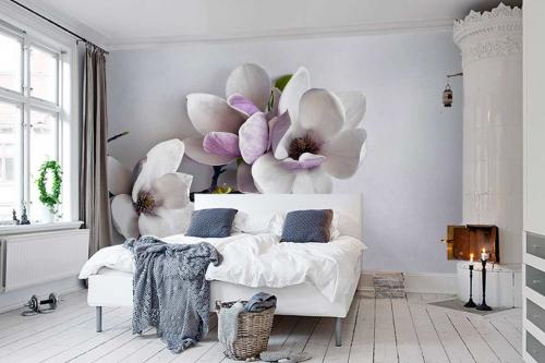 Papier peint grosse fleur de Magnolia