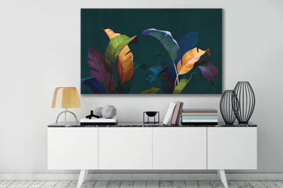 Tableau tropical Feuillage coloré