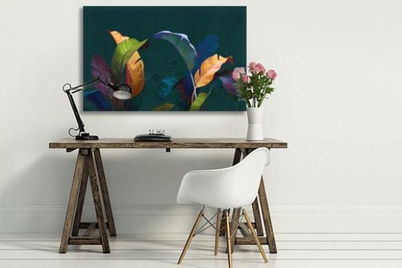 tableau-palmier-feuillage-colore