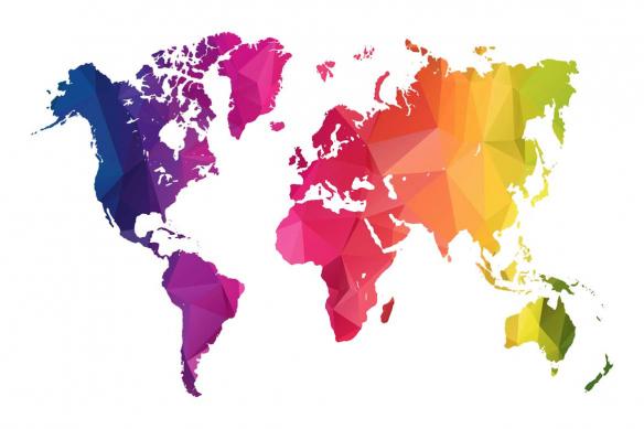 papier peint mappemonde happy world