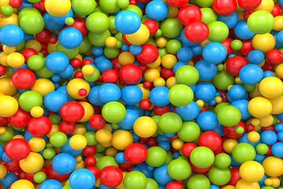 papier peint 3d bubble gum