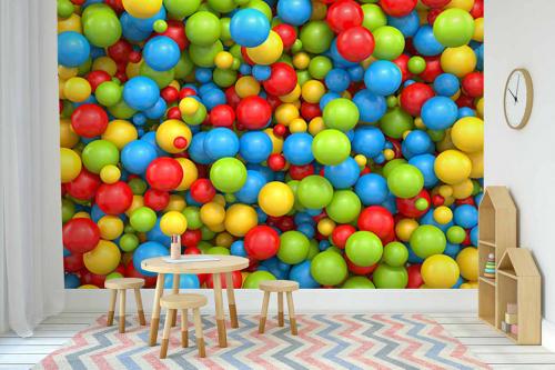 décoration murale originale effet 3d bubble gum