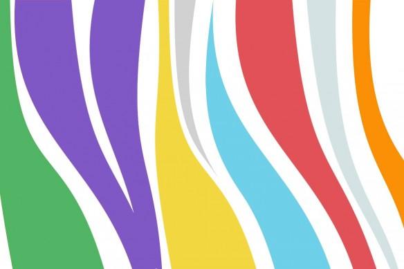 toile murale abstraite colorée mima