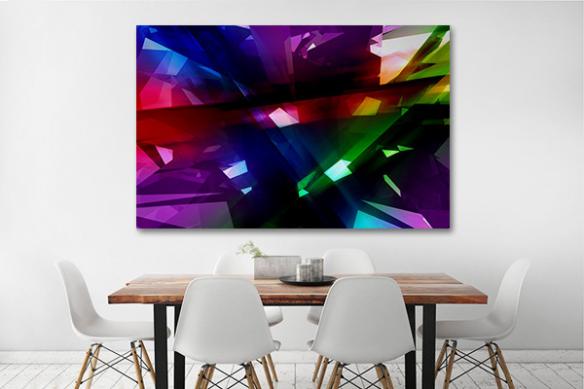 décoration murale design et moderne rayons cristaux