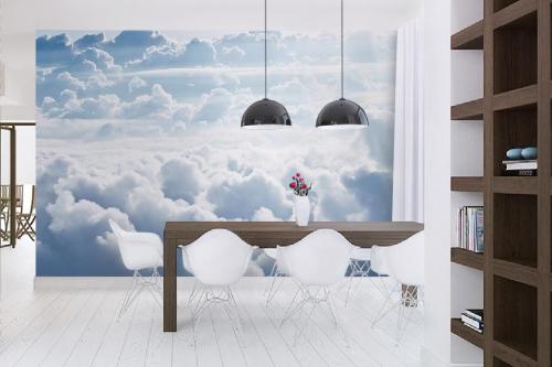 Papier peint nuages déco salle à manger