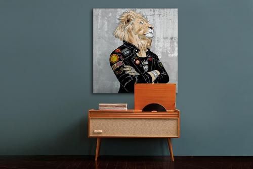 Tableau contemporain Fier comme un Lion