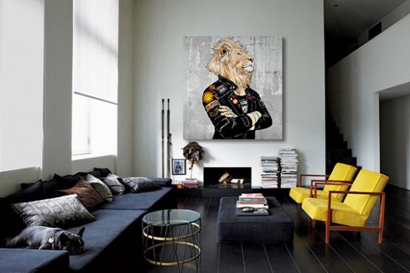 toile-moderne-contemporaine-fiere-comme-un-lion