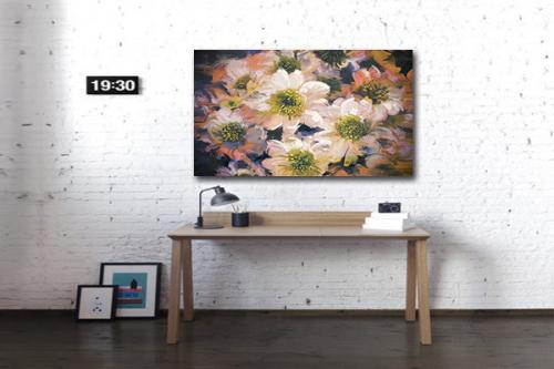 Toile imprimée Fleurs effet peinture