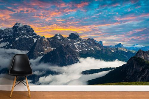 Papier peint panoramique Alpes Italiennes