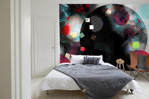 tapisserie chambre design destruptif